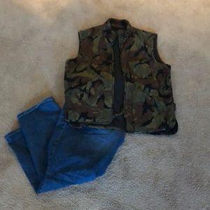 J. Crew Camouflage vest
